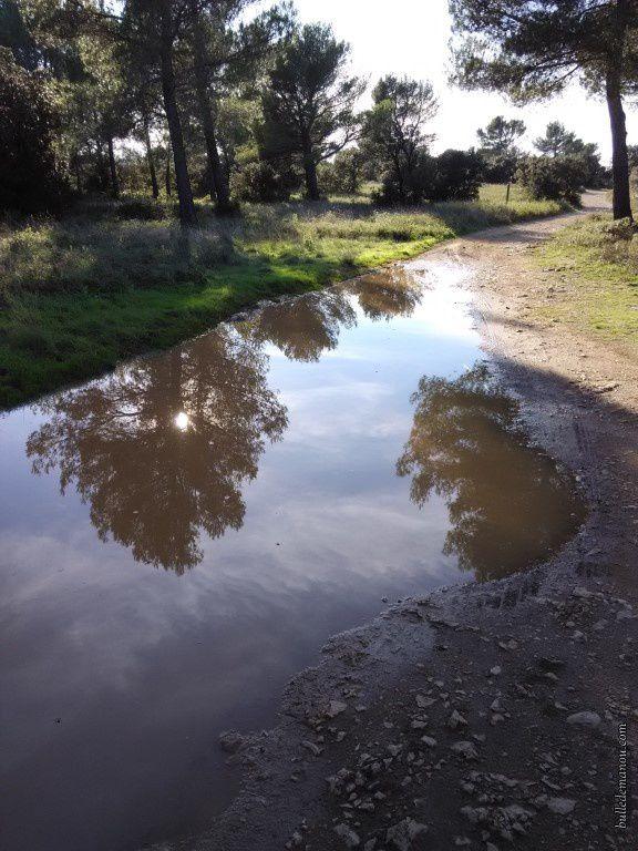 Les chemins sont inondés...