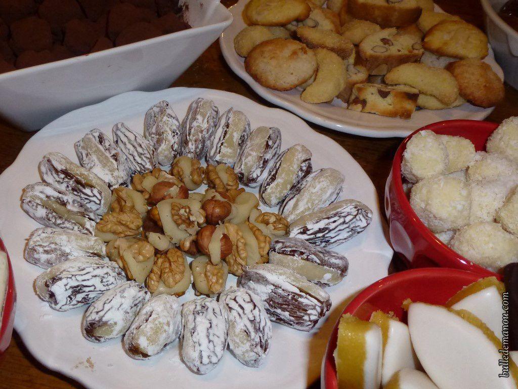 Une vue partielle des treize desserts de noël