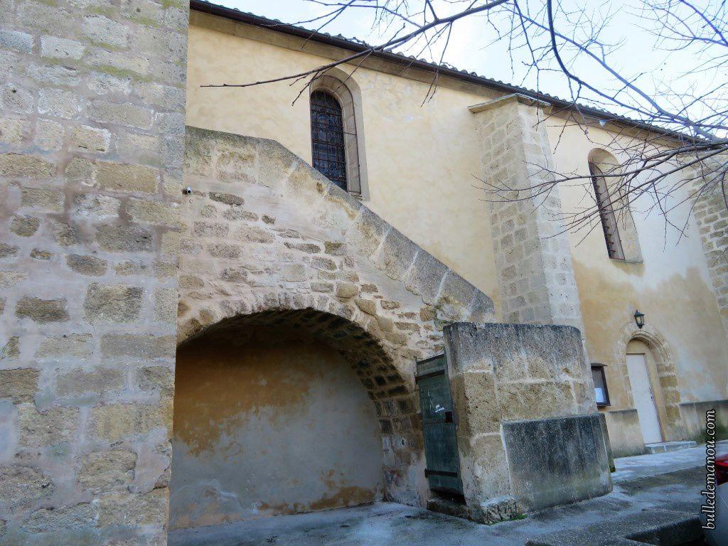 Le clocher...vu sous toutes ses faces et l'escalier d'accès