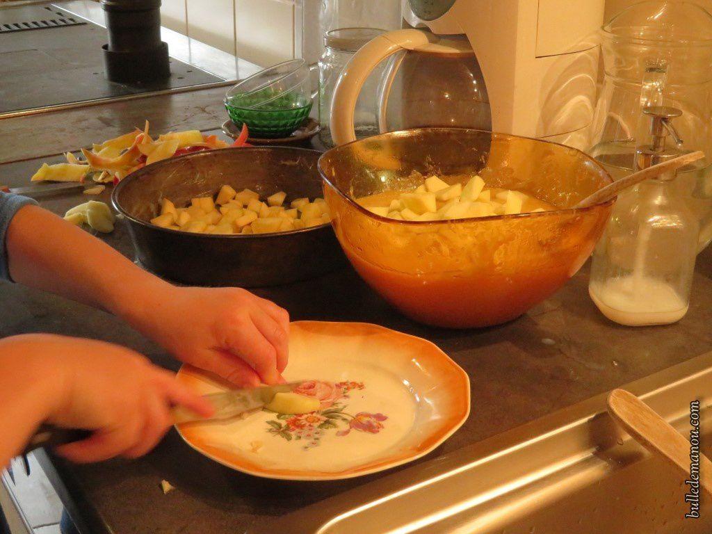 L'épluchage des pommes