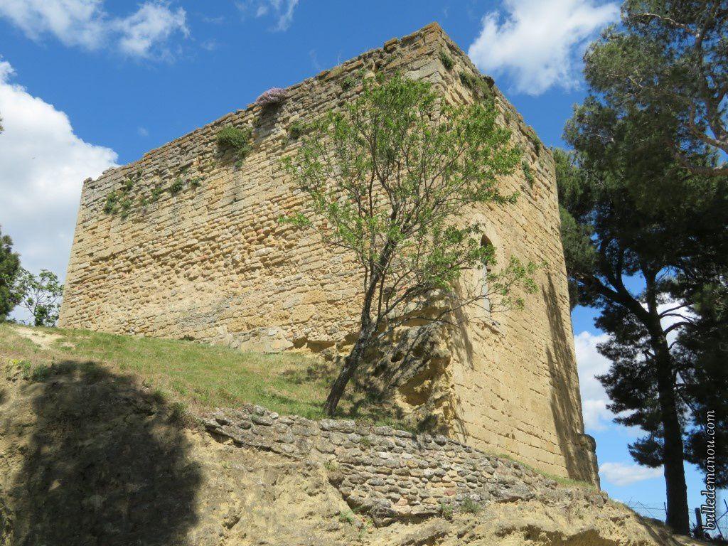La montée au donjon Saint-Michel