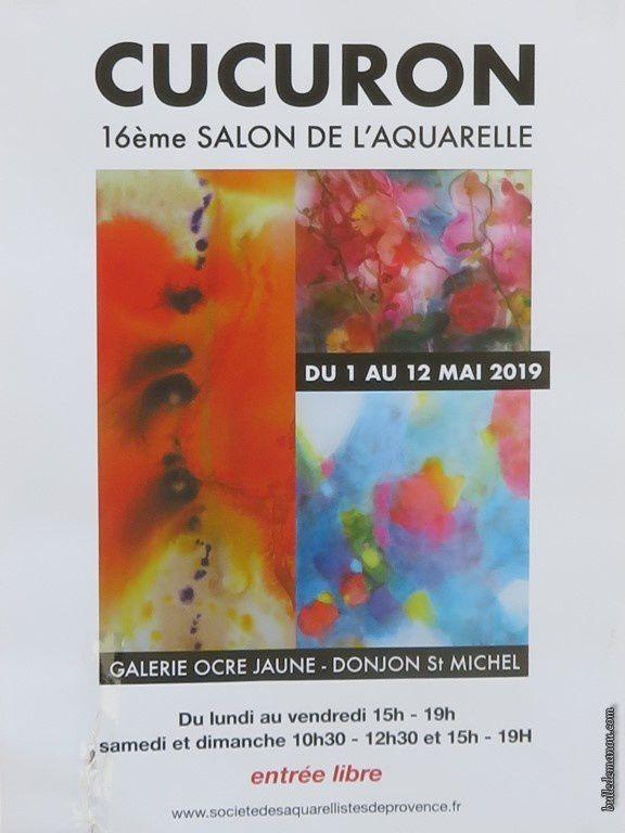 Exposition d'aquarelles à Cucuron / Balade dans le Vaucluse