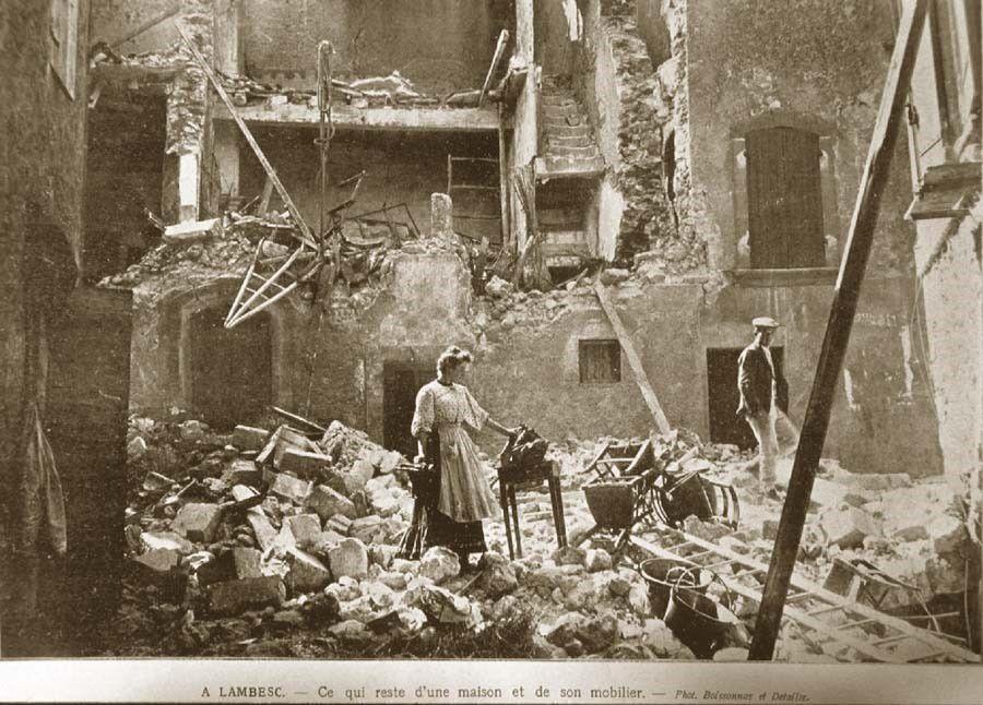 Lambesc après le séisme