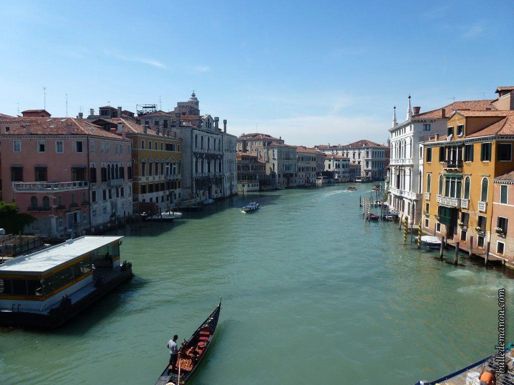 Les Grand Canal vu du pont de l'Académie