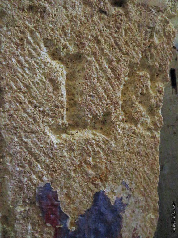 Marques de tacherons dans la nef