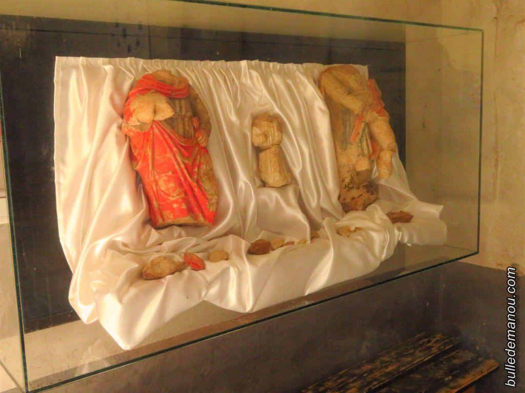 Le trésor (de droite à gauche : Saint-Roch, l'ange, et le saint inconnu)
