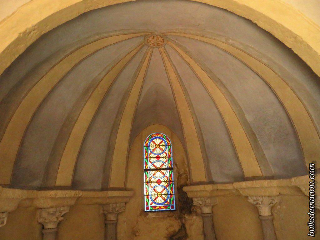 Le plafond du baptistère.