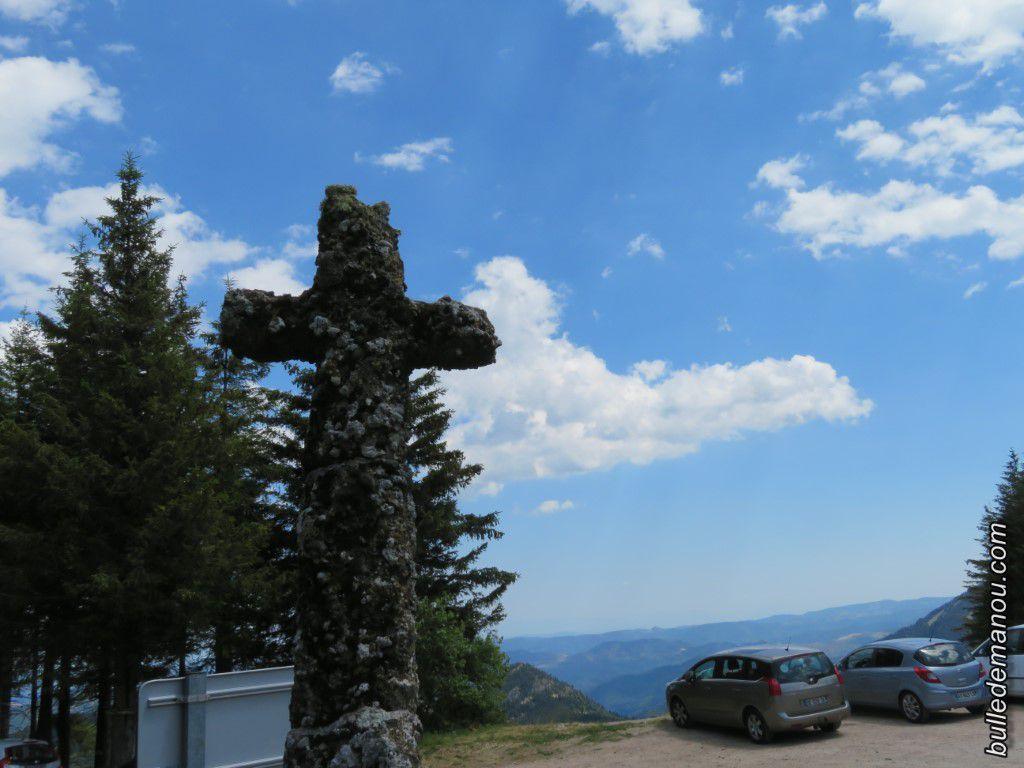 Au col de la Croix de Boutières...