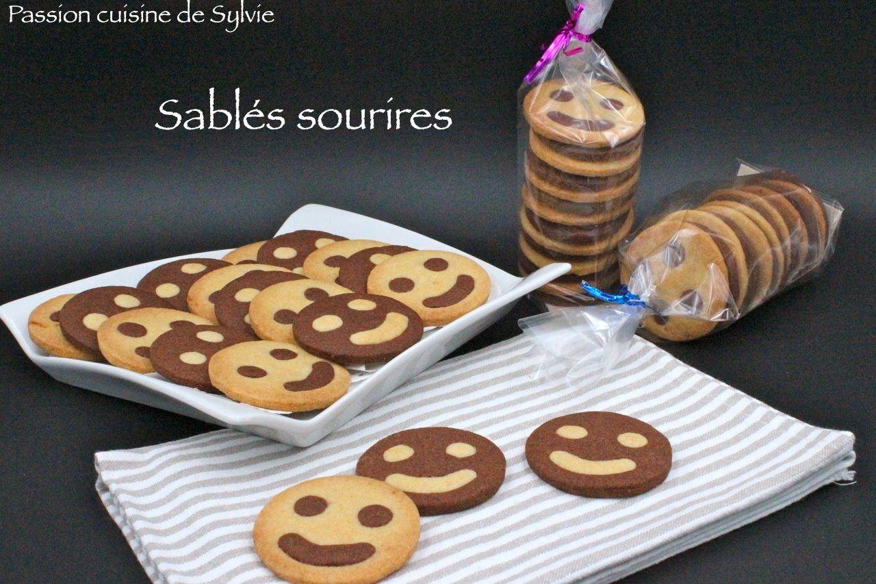 """Sablés """"Sourires"""" vanille et chocolat"""
