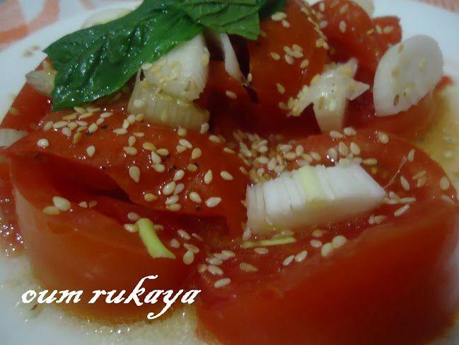 Salade de tomates aux grains de sésames de Nadjet
