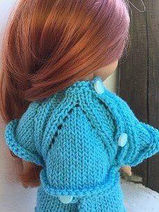 Tenue à godets pour poupée chéries de corolle.