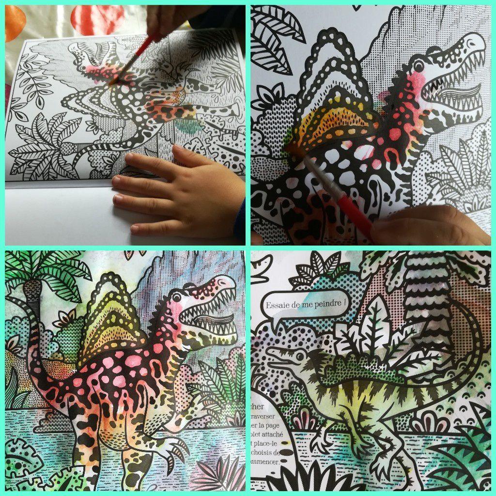 La peinture magique - Les dinosaures.