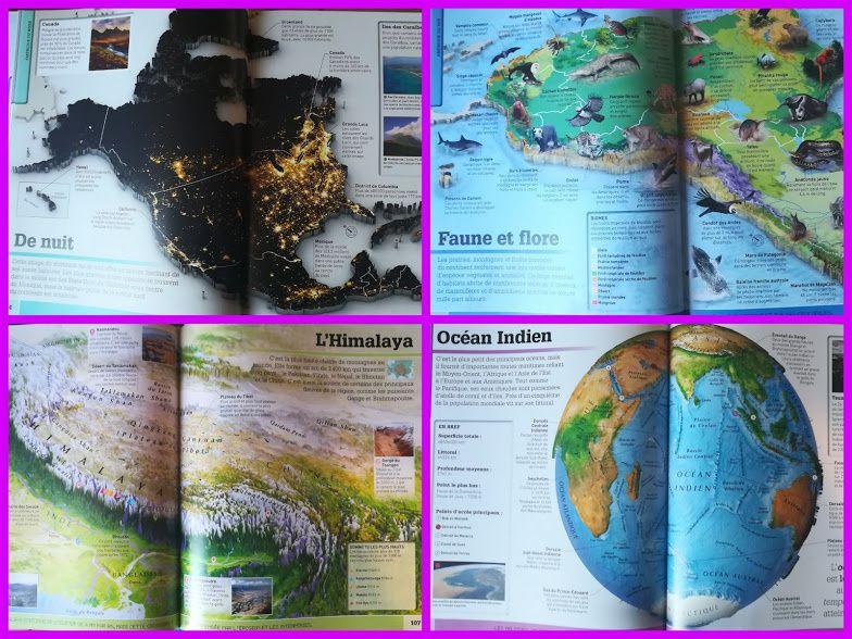 Le monde en carte 3D.