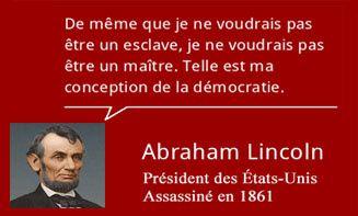 Abraham Lincoln et la démocratie