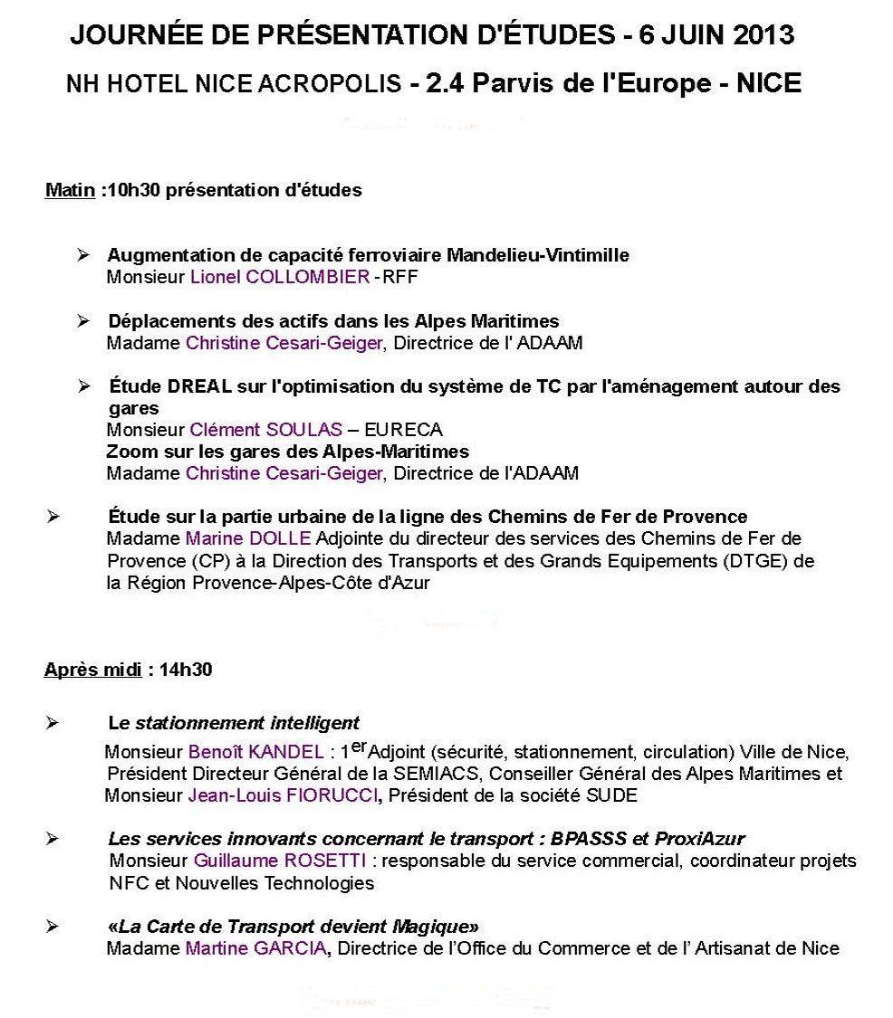 Présentation d'études par l'ORT le 6 juin à NICE