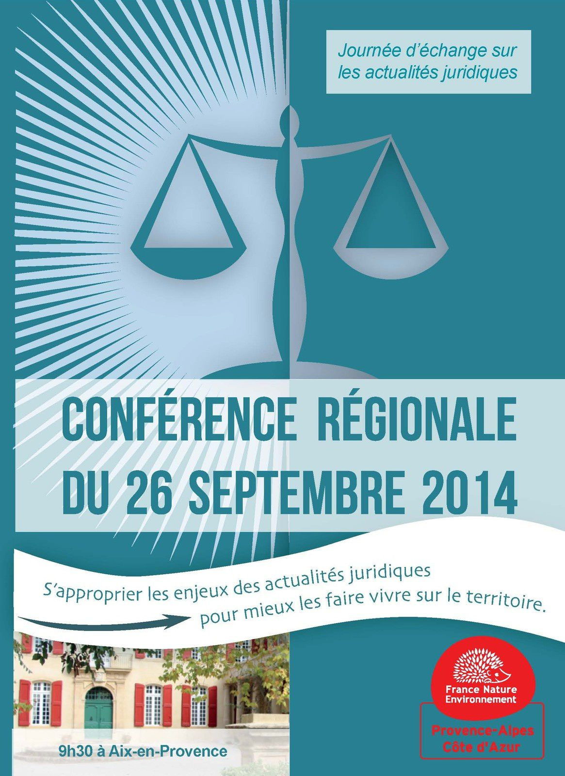 Rappel : Conférence régionale FNE PACA sur les actualités législatives
