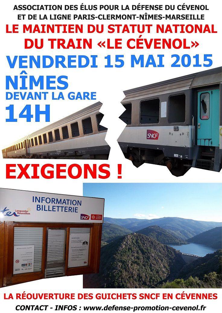 NÎMES, 15 MAI 2015 : Grand rassemblement devant la gare !