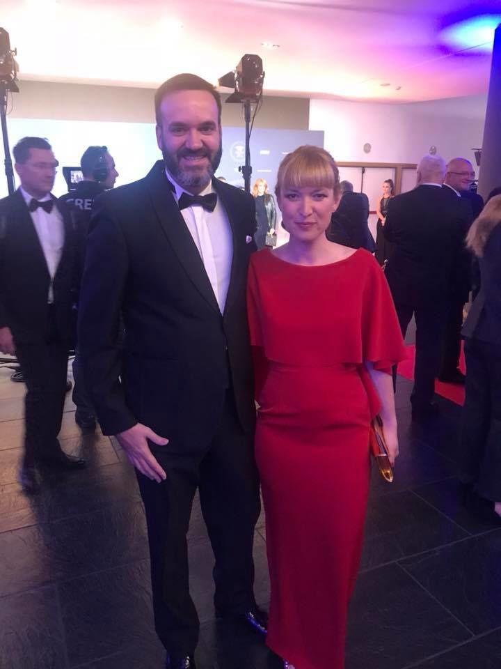 Marti No et sa compagne Vanessa au gala de la FIM.
