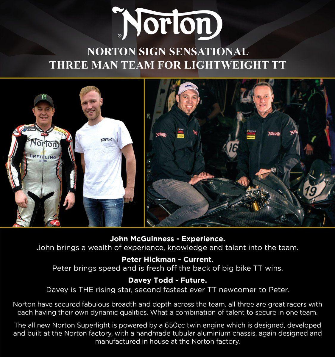 Norton aligne une dream team en supertwin