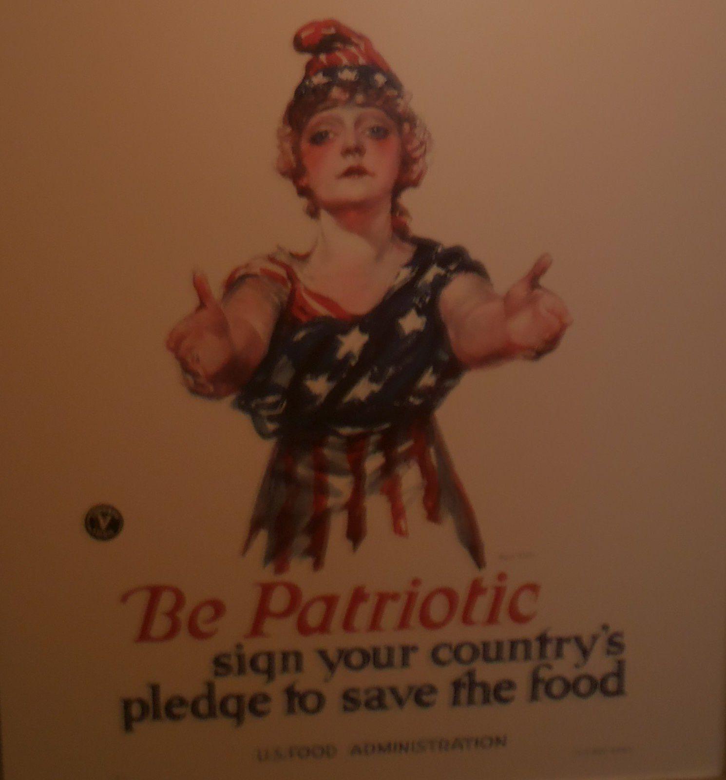 """Sous le titre """"La nourriture gagnera la guerre"""", le citoyen était engagé à """"être patriote en signant l'engagement à économiser la nourriture""""..."""