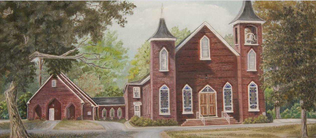 « Je n'ai pas reçu de lettres depuis un bon moment mais sans doute  parce que mon adresse a changé depuis que je vous ai écrit. Il y a mille choses dont j'aimerais entendre parler à propos de la maison. La première est au sujet des rencontres prolongées en particulier celle de Concord (église du comté ci-dessus - NDLR)...