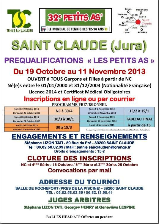 PREQUALIFICATIONS  « LES PETITS AS »