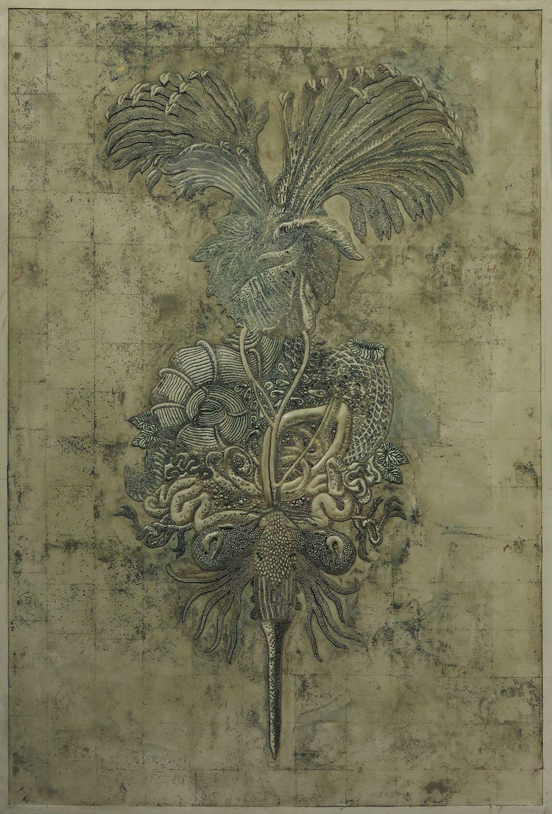 Indigeste, une exposition d'Eudes Menichetti, du dessin vers le travail de la matière