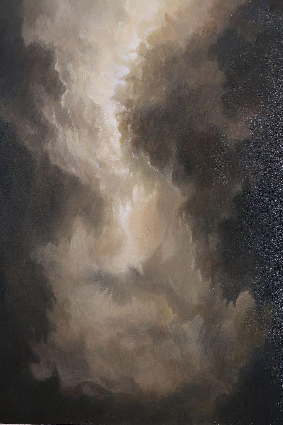 La sarcelle marbrée, huile sur bois, 2018, 20 x 85 cm, caisse chêne