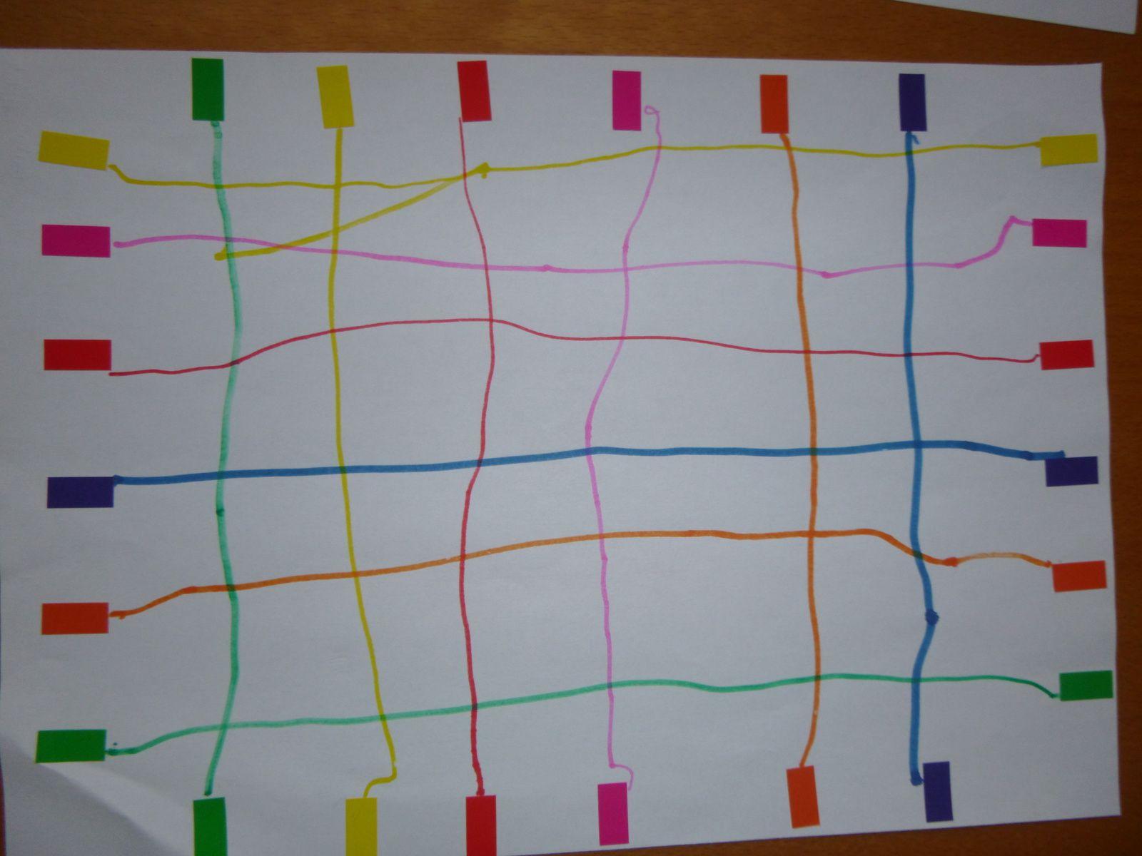 Graphisme : tracer des lignes pour relier les gommettes