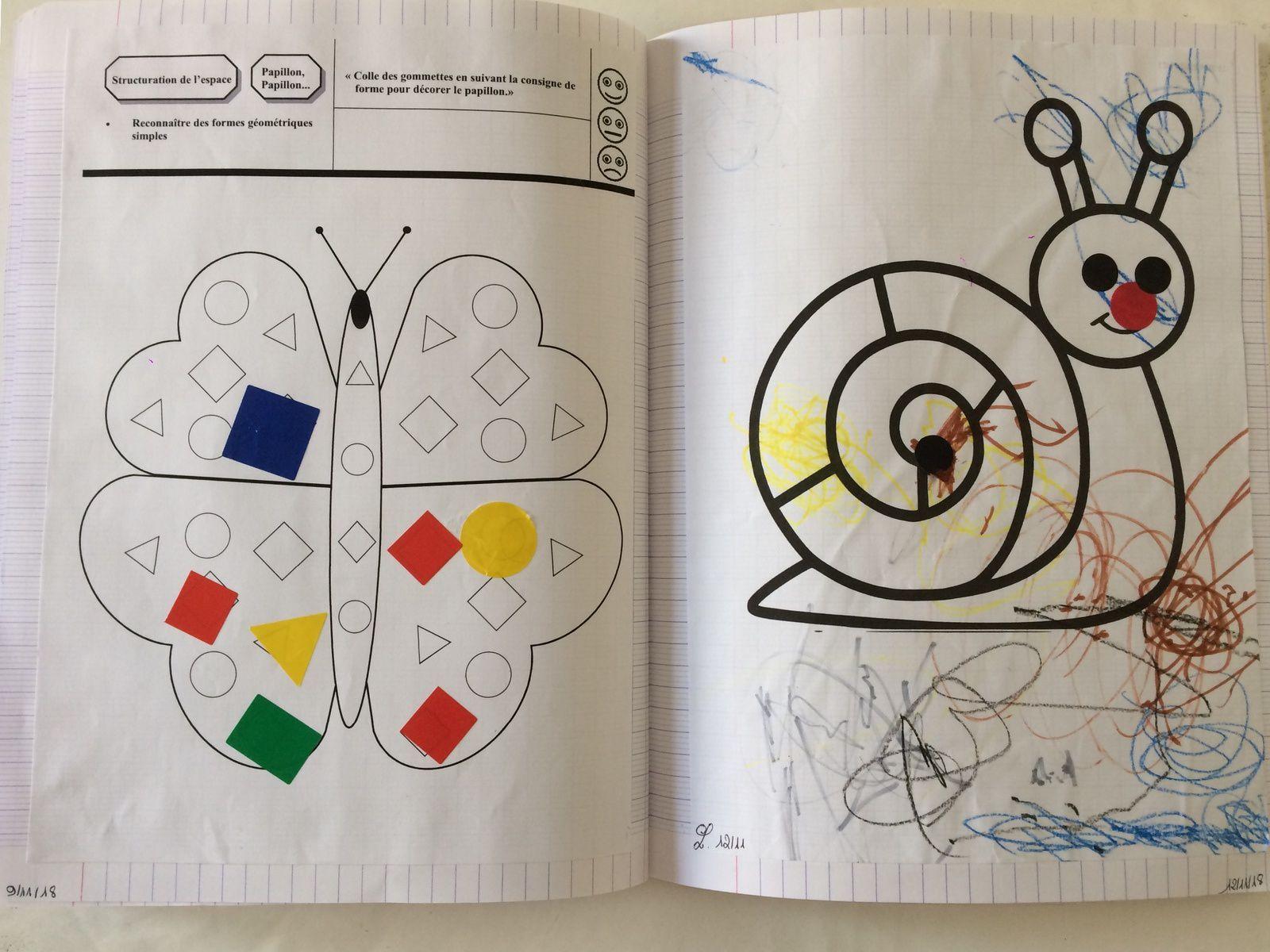 A partir d'un an et demi environ, nous commençons un cahier pour coller les différentes oeuvres d'art ...