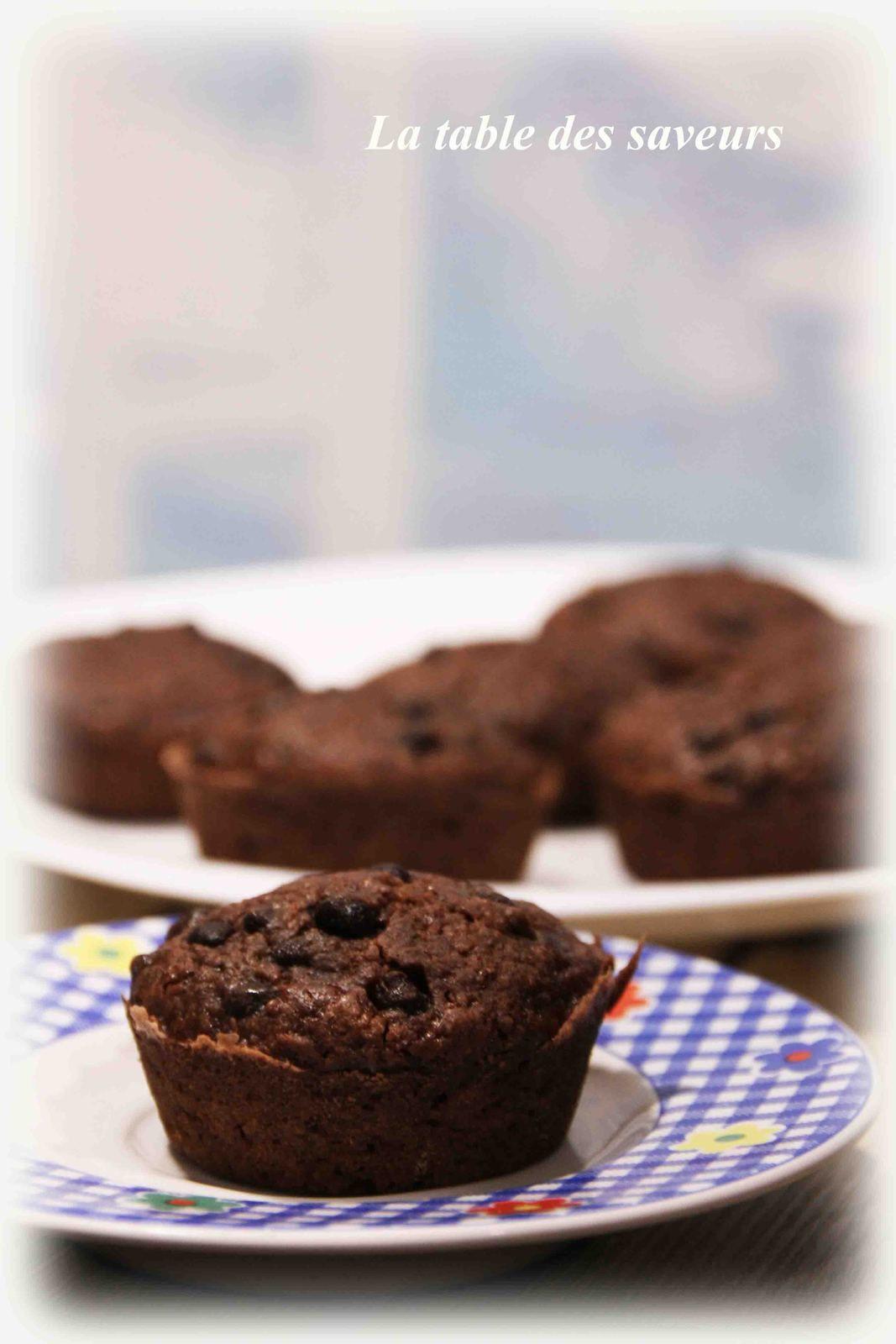 Muffins chocolat-noisette