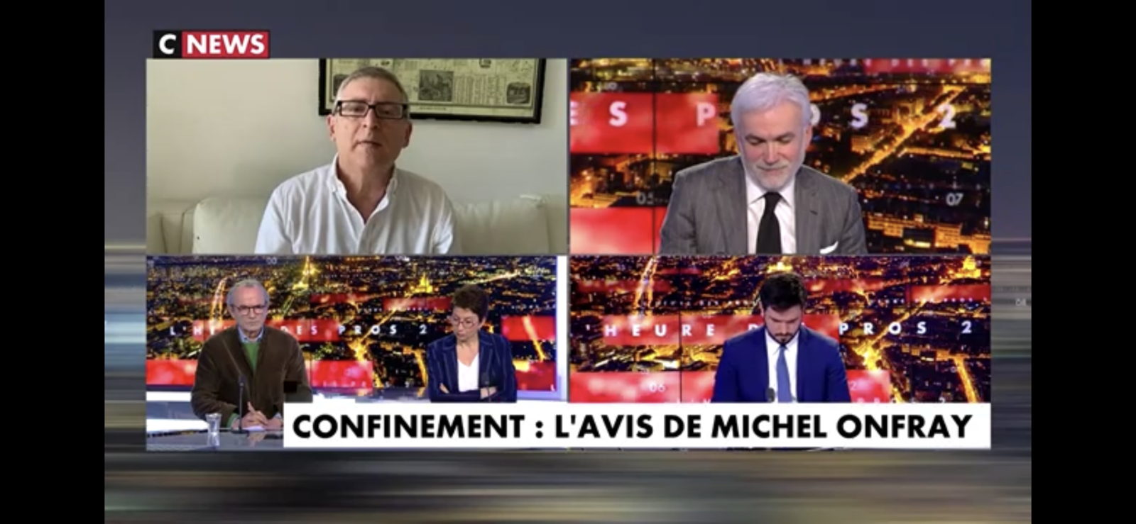 Michel Onfray - Heure des Pros 2 (CNews) - 23.03.2020