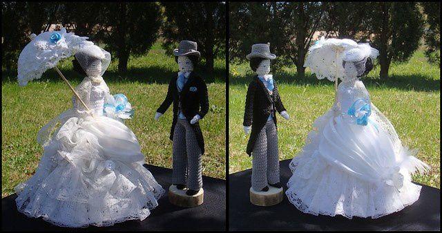 Bibi,dentelle et drapé pour la mariée...