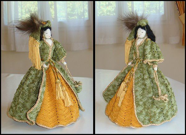 "Scarlett et sa robe ""rideaux"""