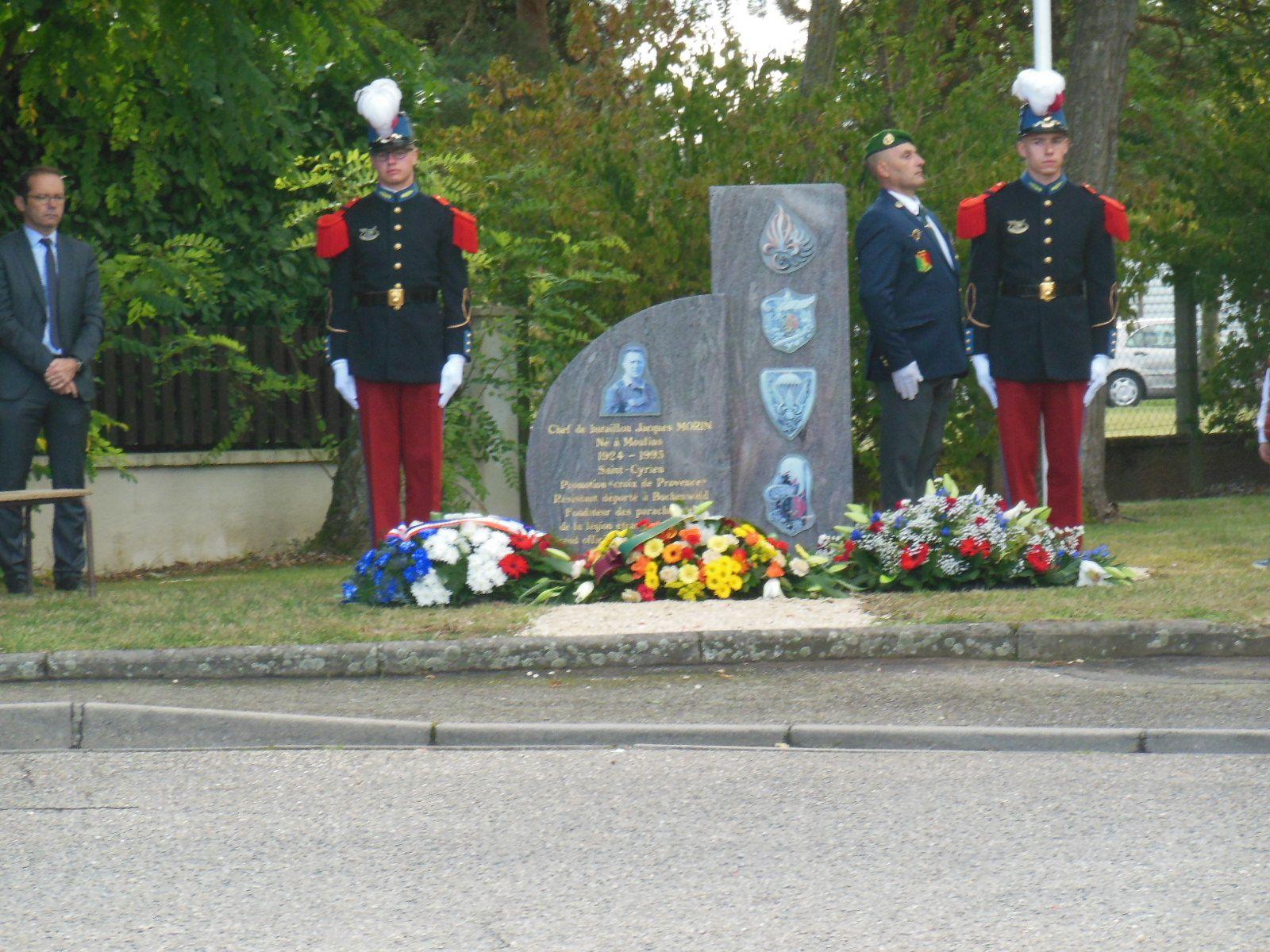 Photos de l'inauguration de la stèle à la mémoire du Chef de Bataillon Jacques Morin le samedi 16 septembre à Moulins
