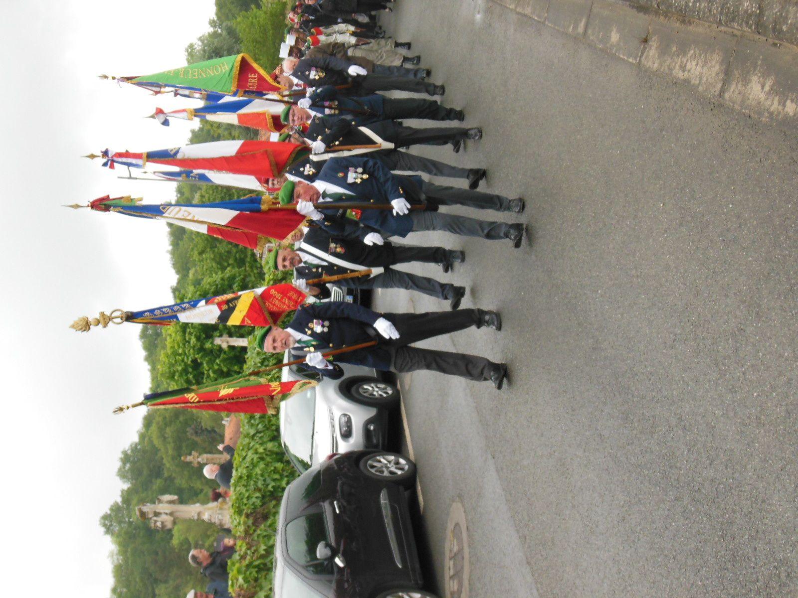 Photos de la cérémonie de Camerone et du dévoilement du cénotaphe du légionnaire Armand Jean Bernier de Maligny le samedi 12 mai 2018 à Saulgé