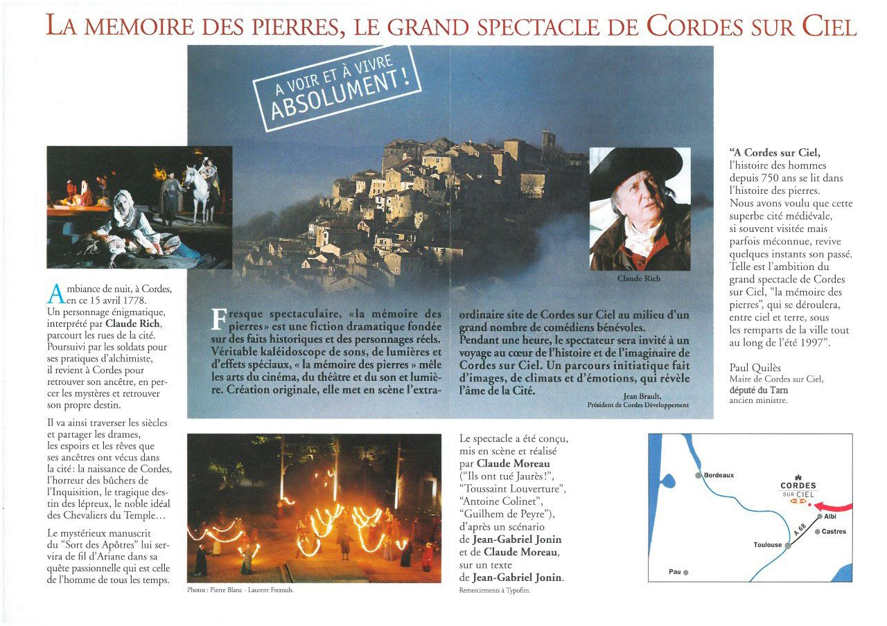 """Claude Rich et """"la mémoire des pierres"""""""