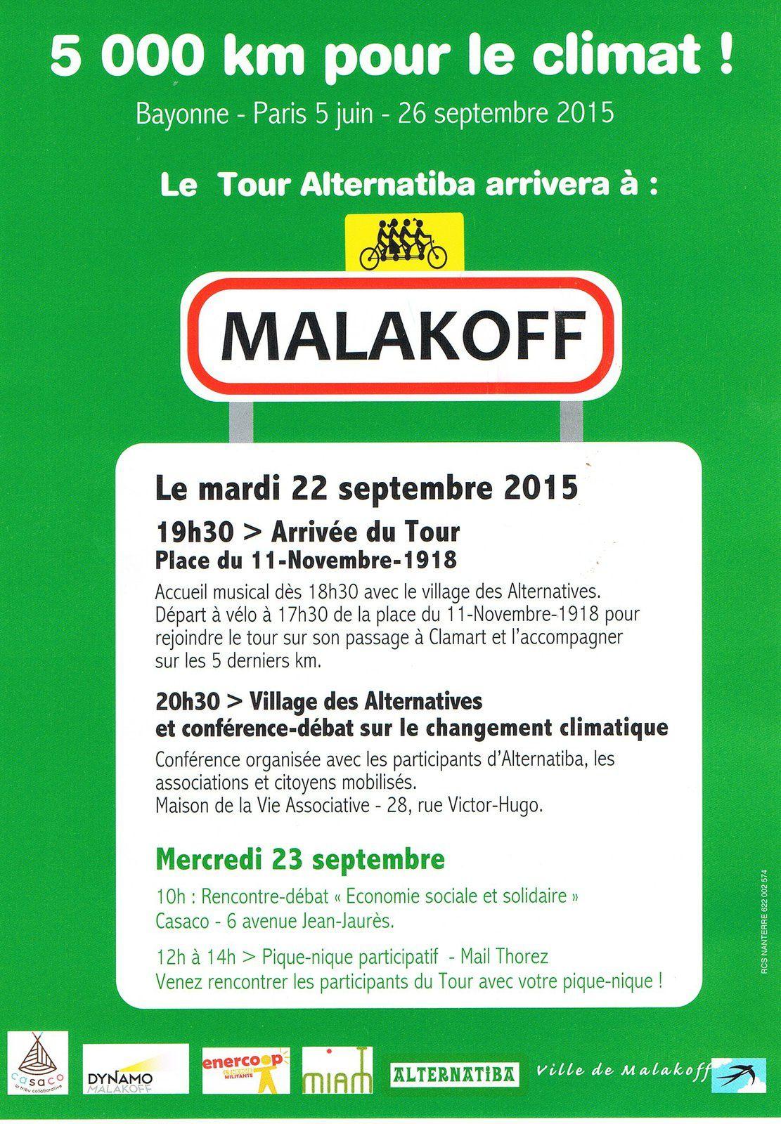 Alternatiba: ils arrivent demain à Malakoff