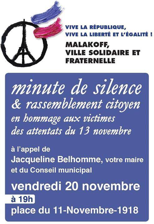 Rassemblement citoyen à Malakoff