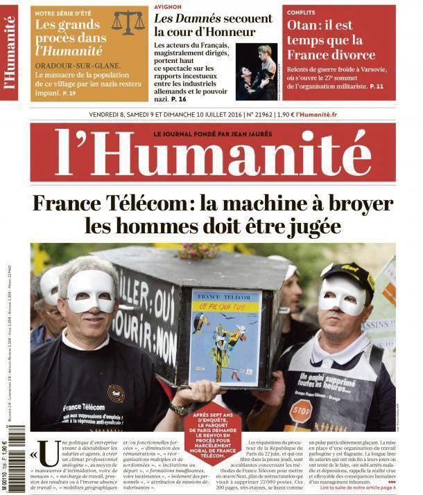 France Télécom: des méthodes de management inacceptables