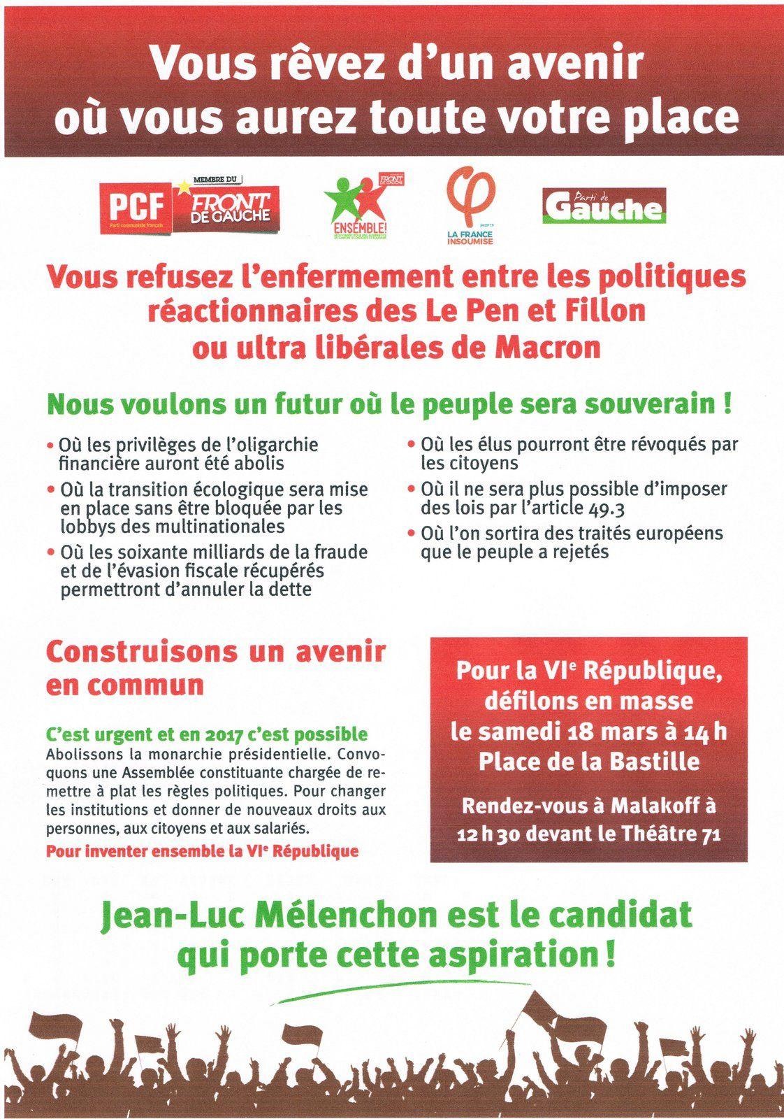 Malakoff: PCF et Ensemble entrent en campagne présidentielle