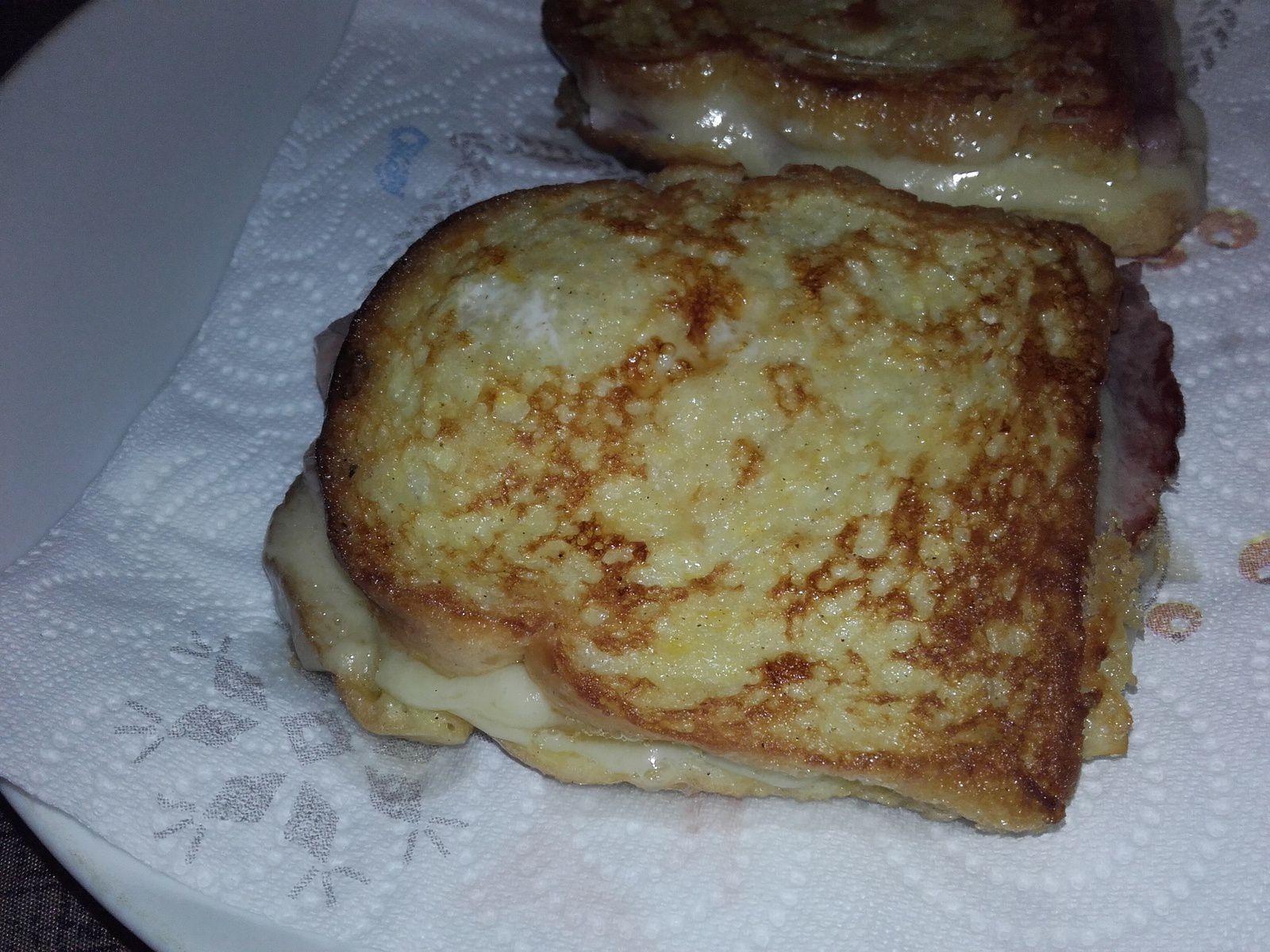 Croques au comté facon pain perdu