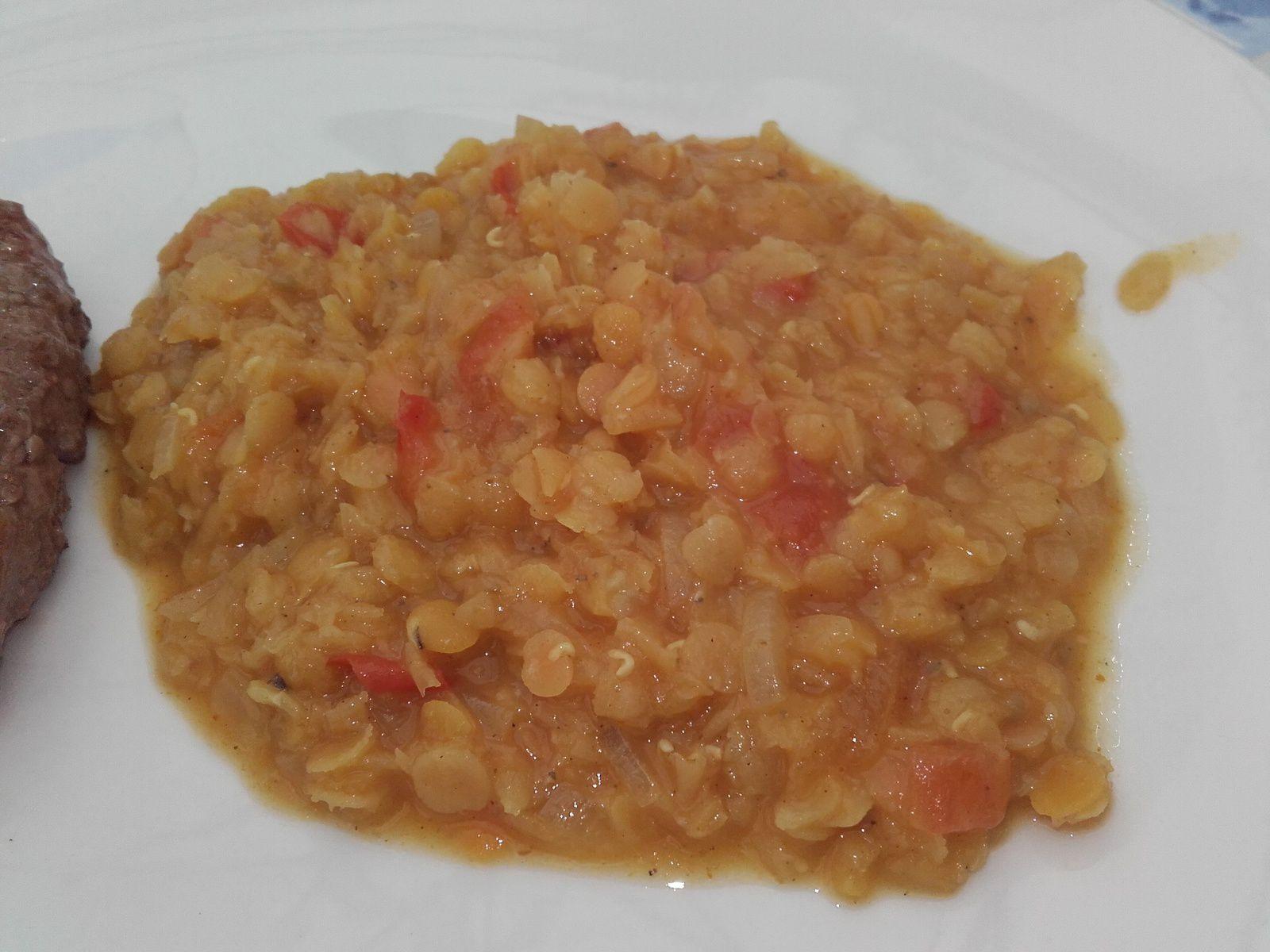 Lentilles corail au curry ww
