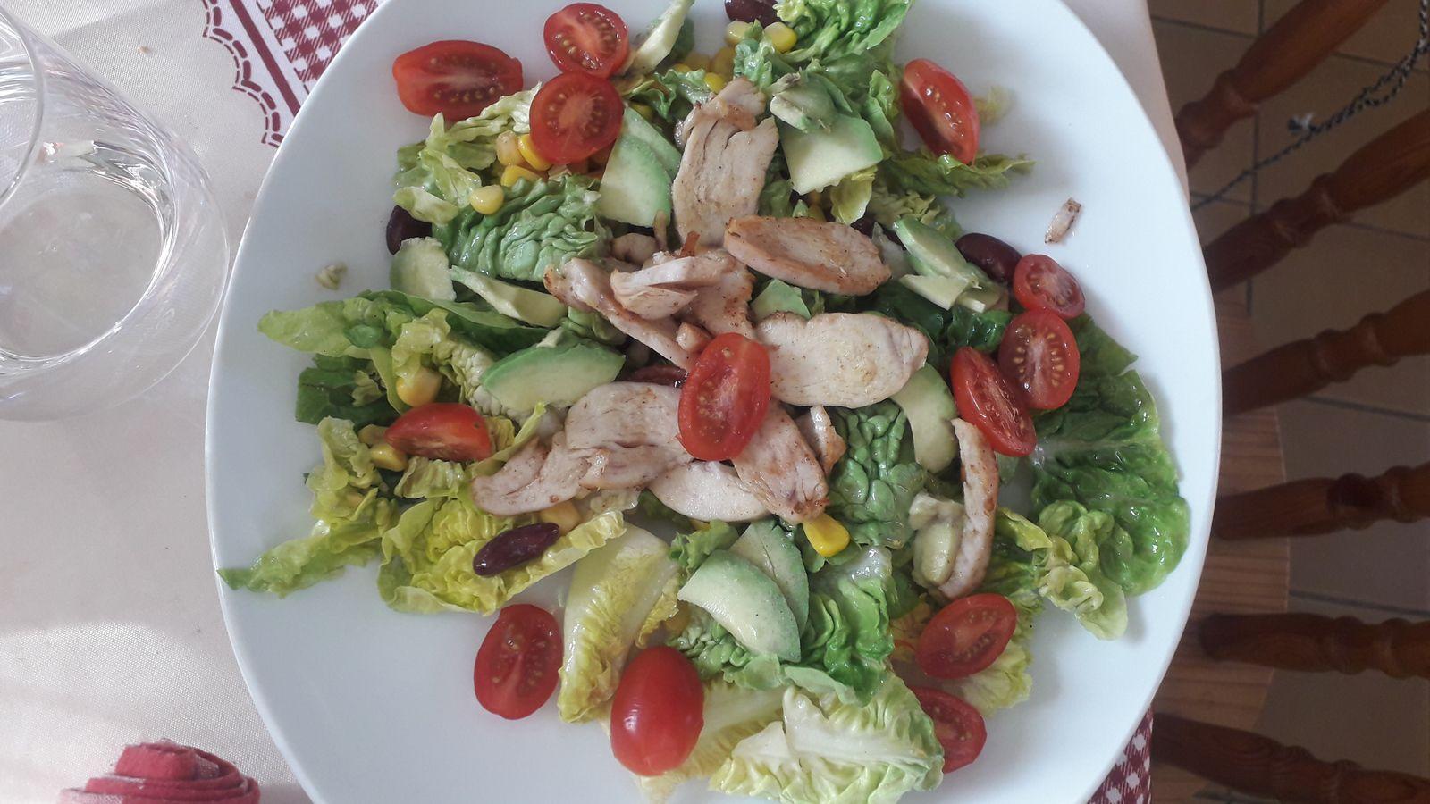 Salade de poulet à la mexicaine