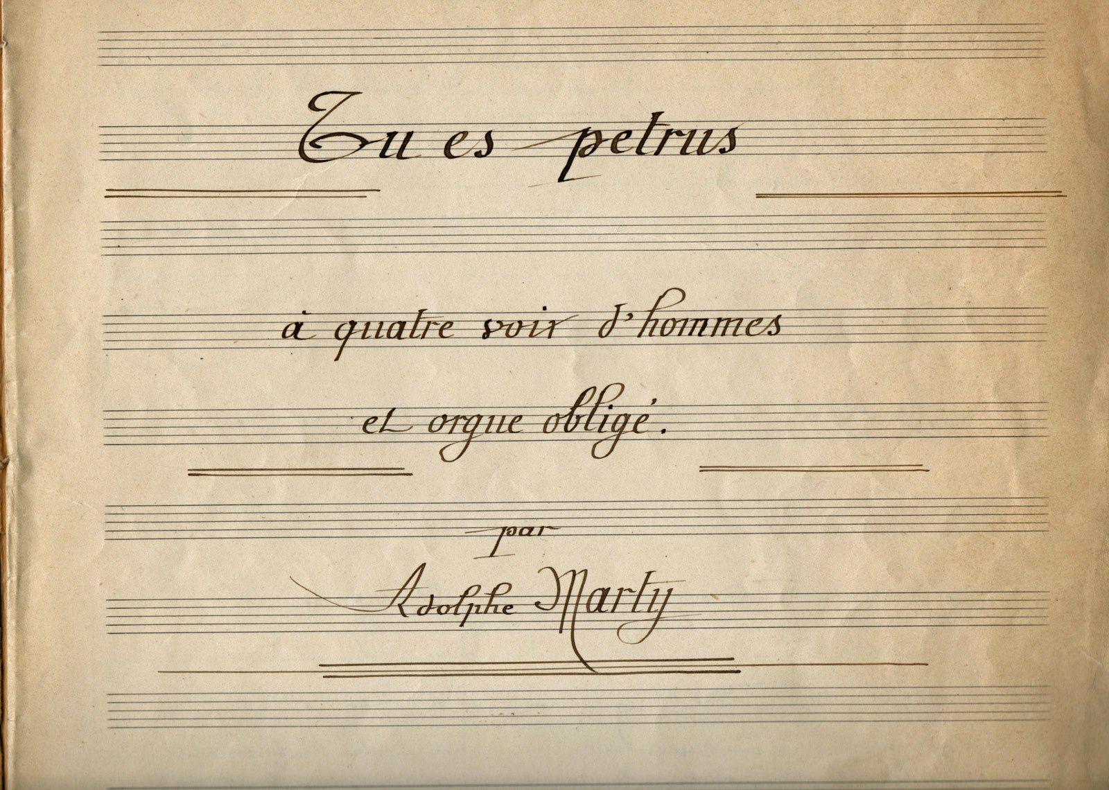 Adolphe Marty - Tu es Petrus