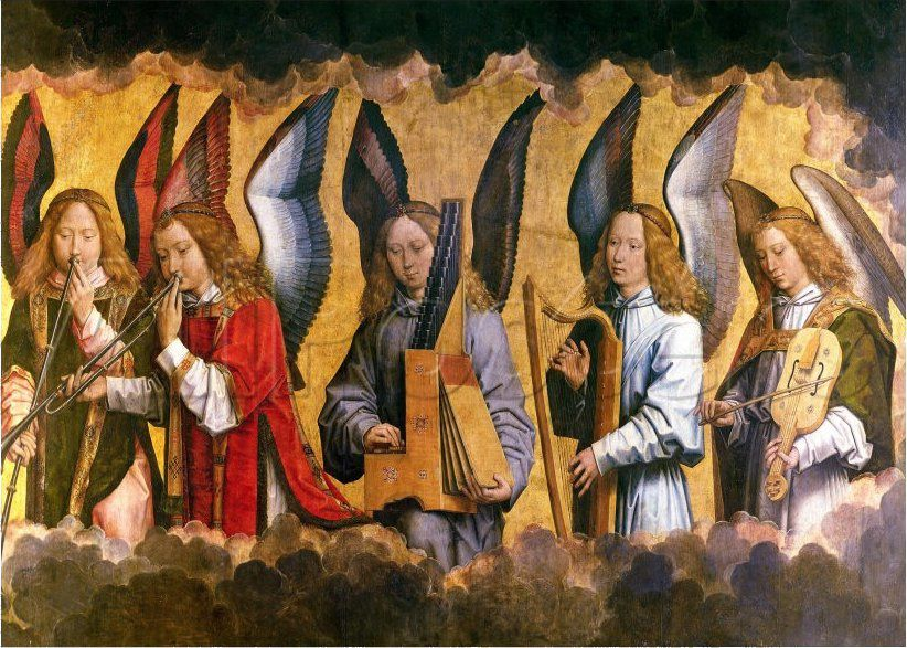 Hans Memling. Les anges musiciens