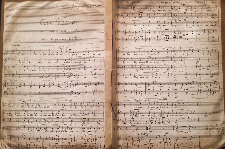 Manuscrit Bibliothèque musicale de Saint François Xavier