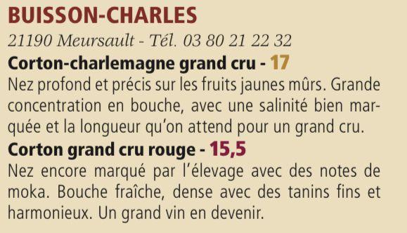 Les vins en élevage du domaine Buisson-Charles dégustés pour le spécial millésime 2019 de la revue Bourgogne Aujourd'hui