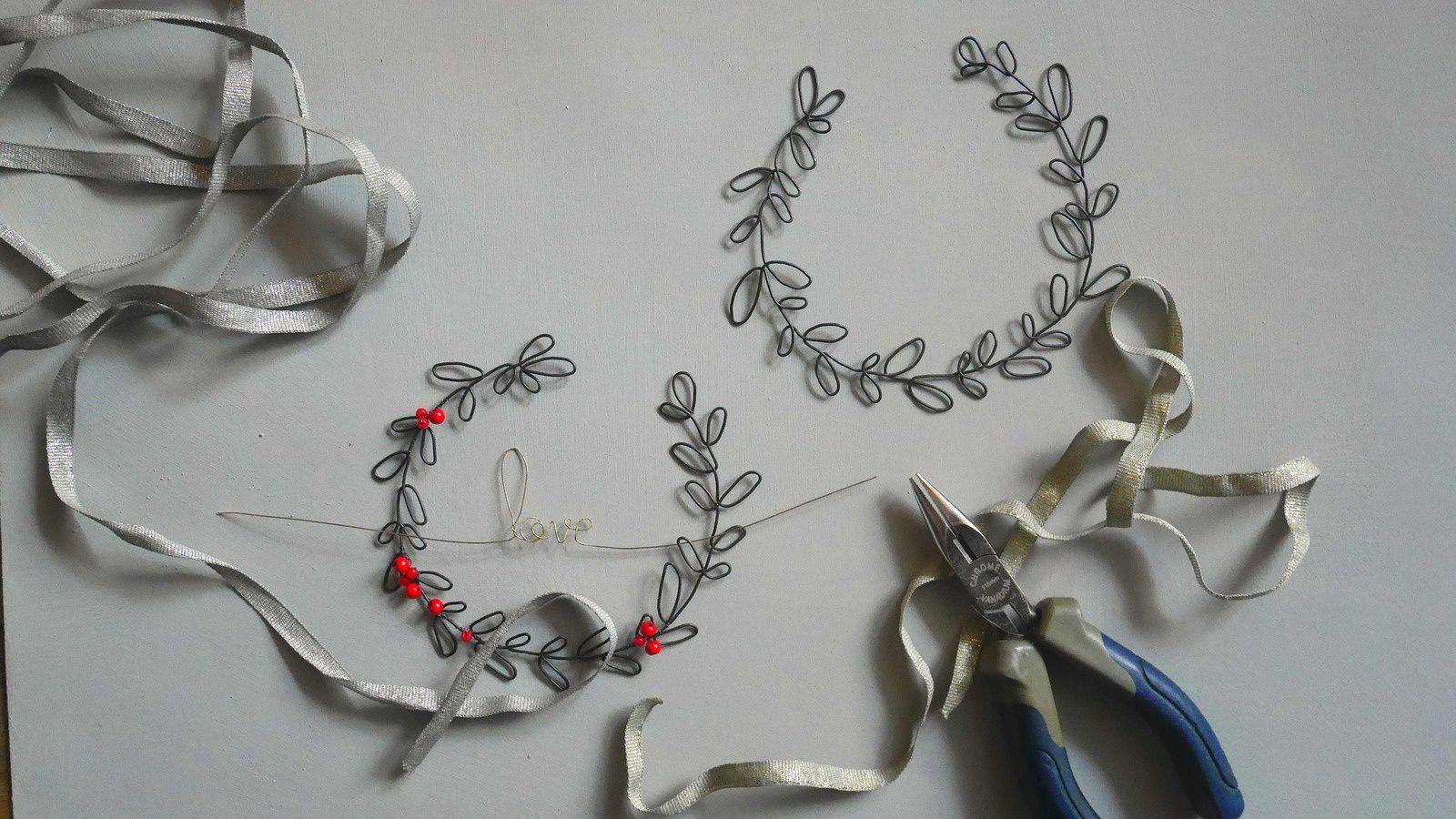 Le workshop du 2 décembre chez Nadine Delépine...réalisation de couronnes de rinceaux personnalisée en direct...