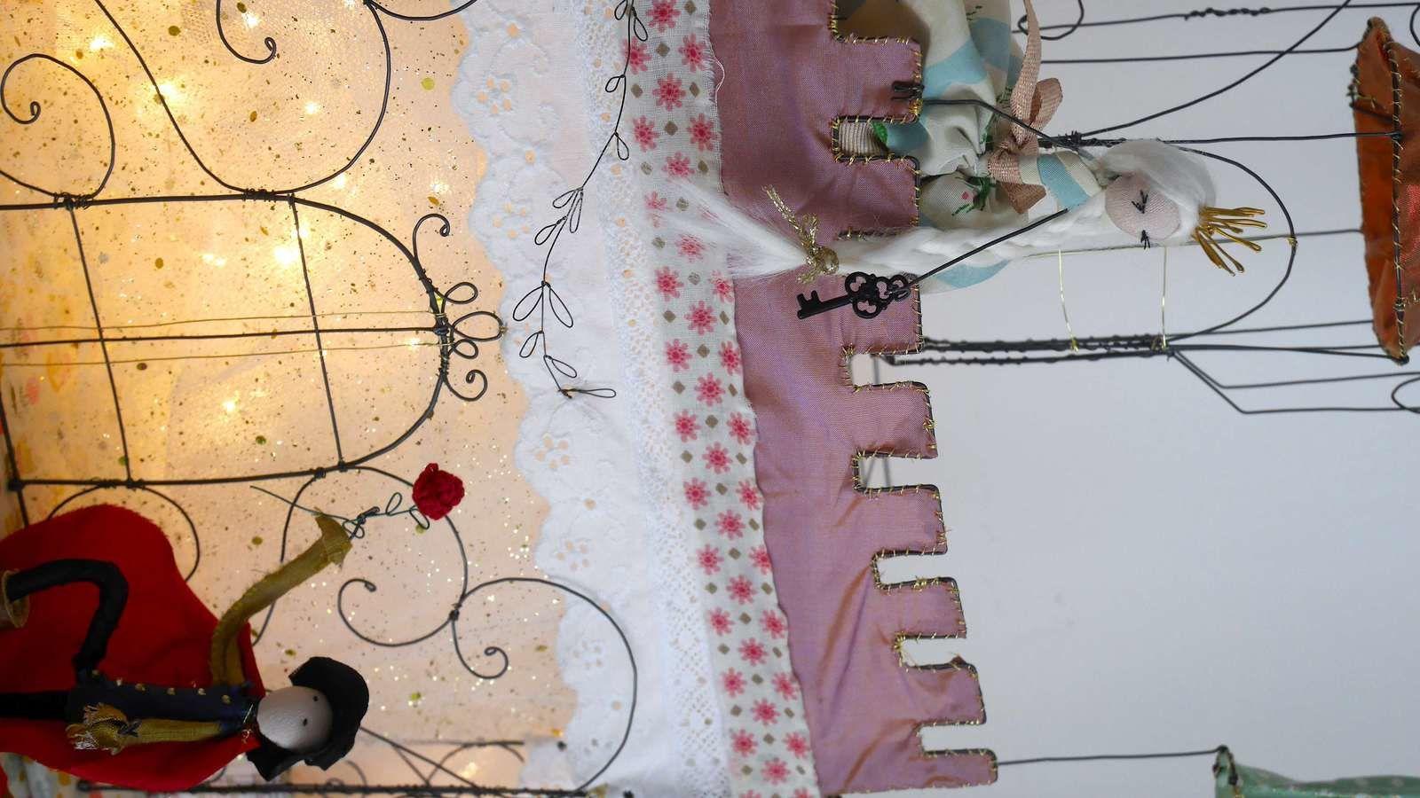 Un château-luminaire pour une petite fille (princesse)